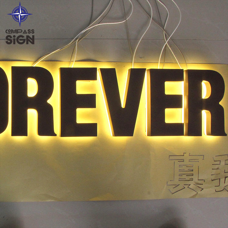 Backlit Letters Zeichen Backlit Led Kanal 3D Signage Metall <span class=keywords><strong>Brief</strong></span>