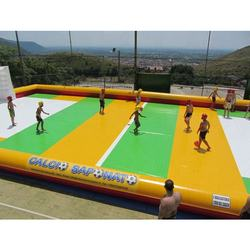 Best PVC inflatable soap football field, soap inflatable football court for sale