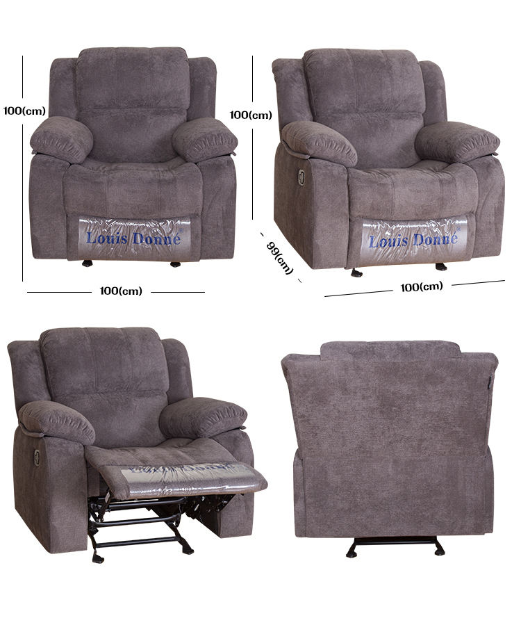Custom new arrival gray manual America style fabric recliner sofa