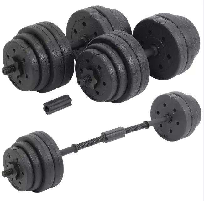 Commonway Fitness 30Kg Dumbbells Pair of Weights Barbell Body Building Set