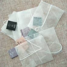 Wholesale Corn Fiber Triangle Mesh Pyramid tea bag with String and label