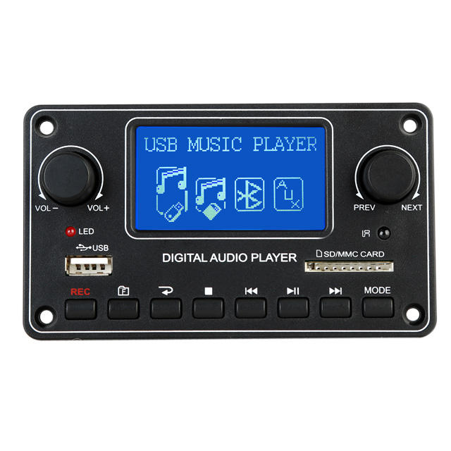 TDM157 Mp3 Player Module With USB FM AUX SD Decoder Board DOT MATRIX LCD Display With Remote Control MP3 Audio Module