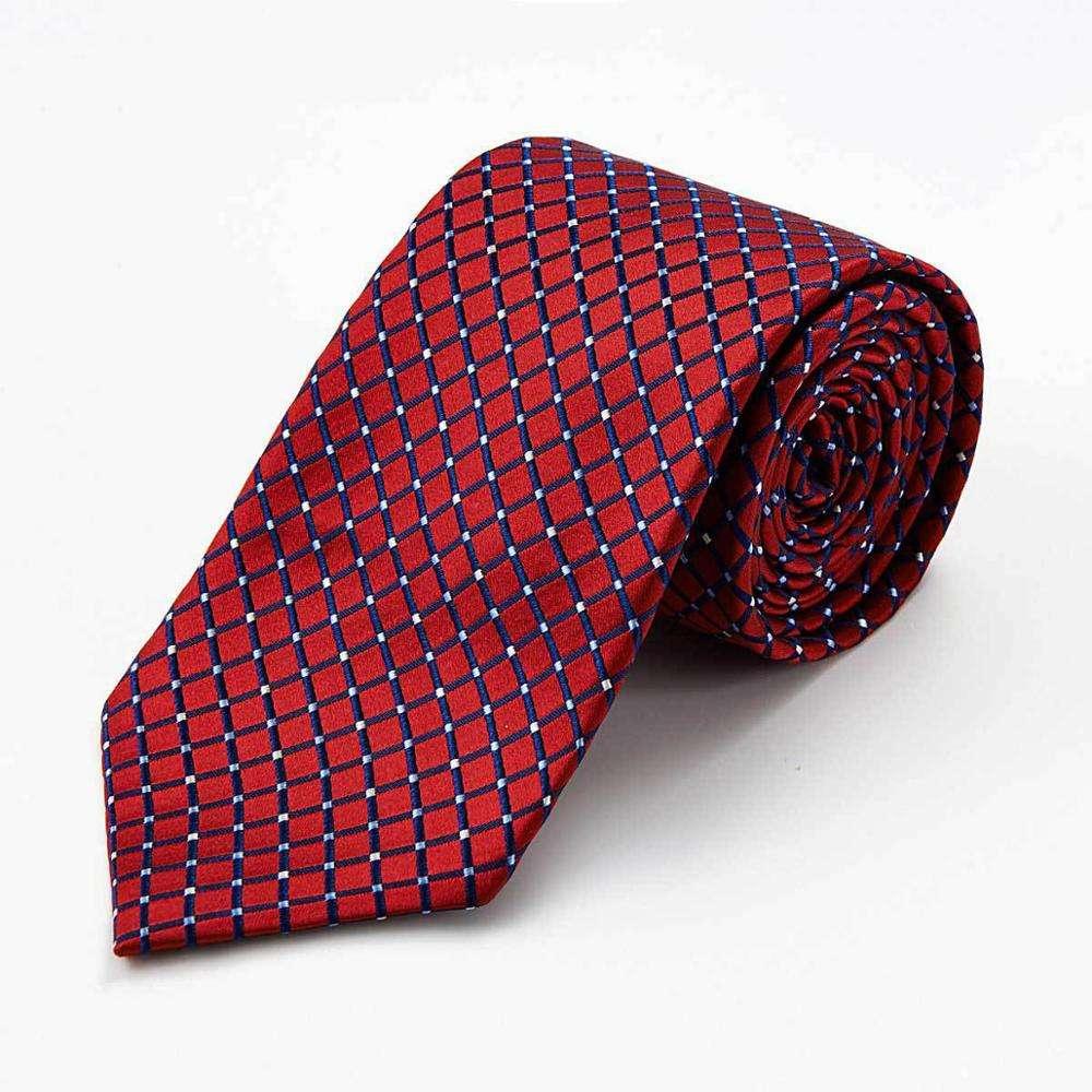 New Classic Paisley Black Red Jacquard Tissé 100/% Soie Hommes Cravate Cravate