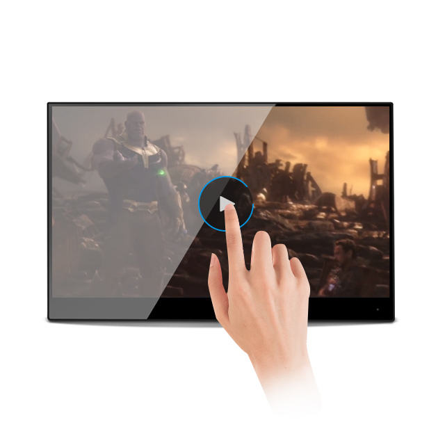 144hz 2k touch laptop HD game monitor connect keyboard 4mm touch screen monitor