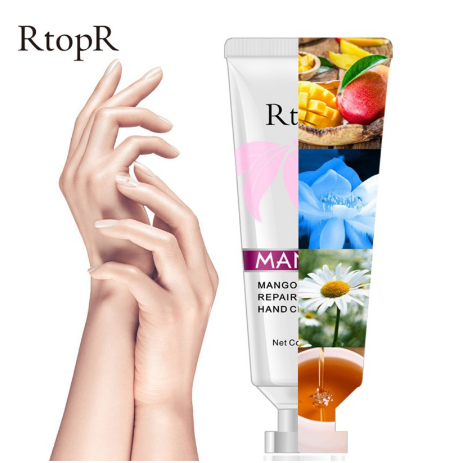 Refreshing Fast Absorbing Hand Cream Hydrating Anti-drying Mango Moisturizing Repairing Hand Cream 50g