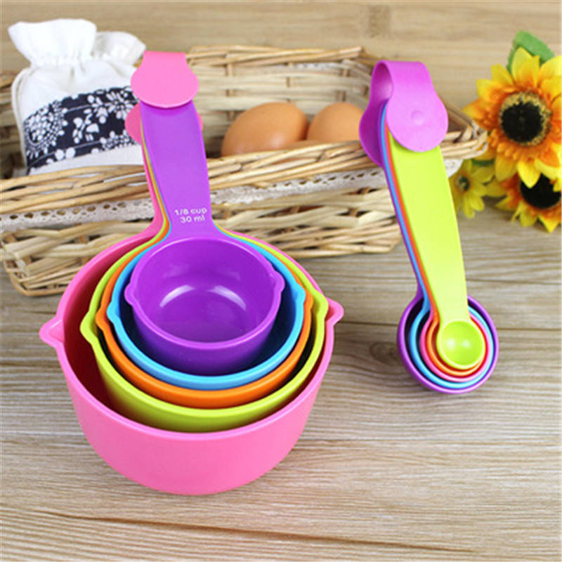 5pcs/set Measuring Spoons Colorful Plastic Measure Spoon Useful Sugar Cake Baking Spoon Kitchen Baking Measuring Tools L0248-1