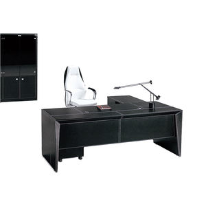 Computer Organizer Modern Furniture Office Black Executive Ergonomic Desk With Drawers