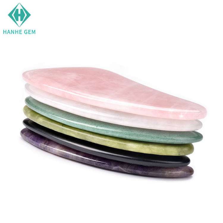 Hot selling Xmas gift rose quartz custom gua sha therapy tool for facial massage