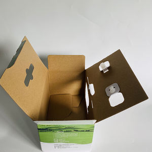 Factory production rigid custom milk carton shipping corrugated paper packing box