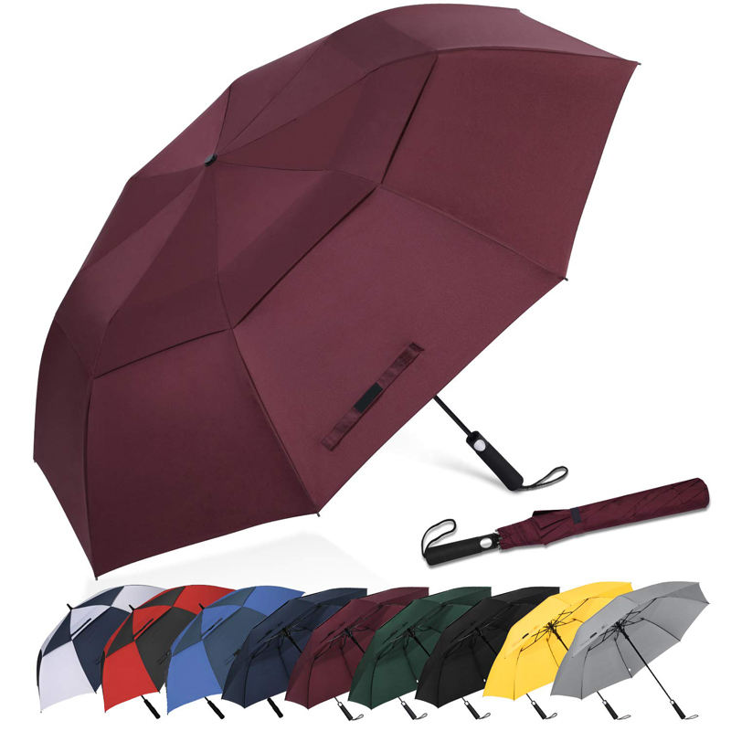 OEM service New design golf umbrella with Logo and two tier cover