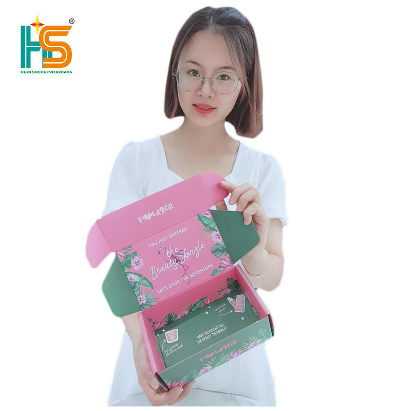 HUAISHENG Top Sale Quality Matt Lamination Packaging Book Branded Box Mailers With Custom Logo