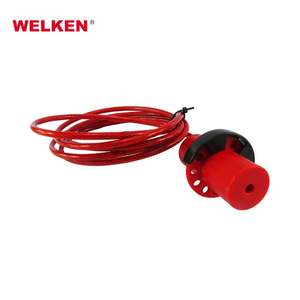 New design Hot sale safety Insulation cable lock with 30 stainless steel wire rope