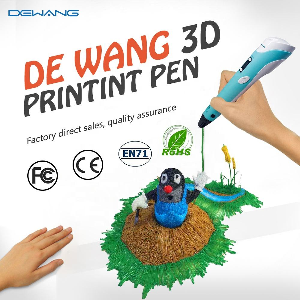 Factory Wholesale Drawing Printer 3D Pen With 1.75mm PLA Filament Refills printpen Print Pen 3D Printer Pen