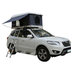 Outdoor glamping 4*4 rooftop fiberglass car hard shell roof tent with 1-3 persons