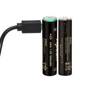 USB AAA Rechargeable Lithium-ion Battery 1.5 V Battery With USB 400mAh