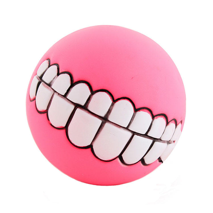 Cheap Funny Pet Toys Spherical Teeth Training Sound Rubber Dog Ball Toy