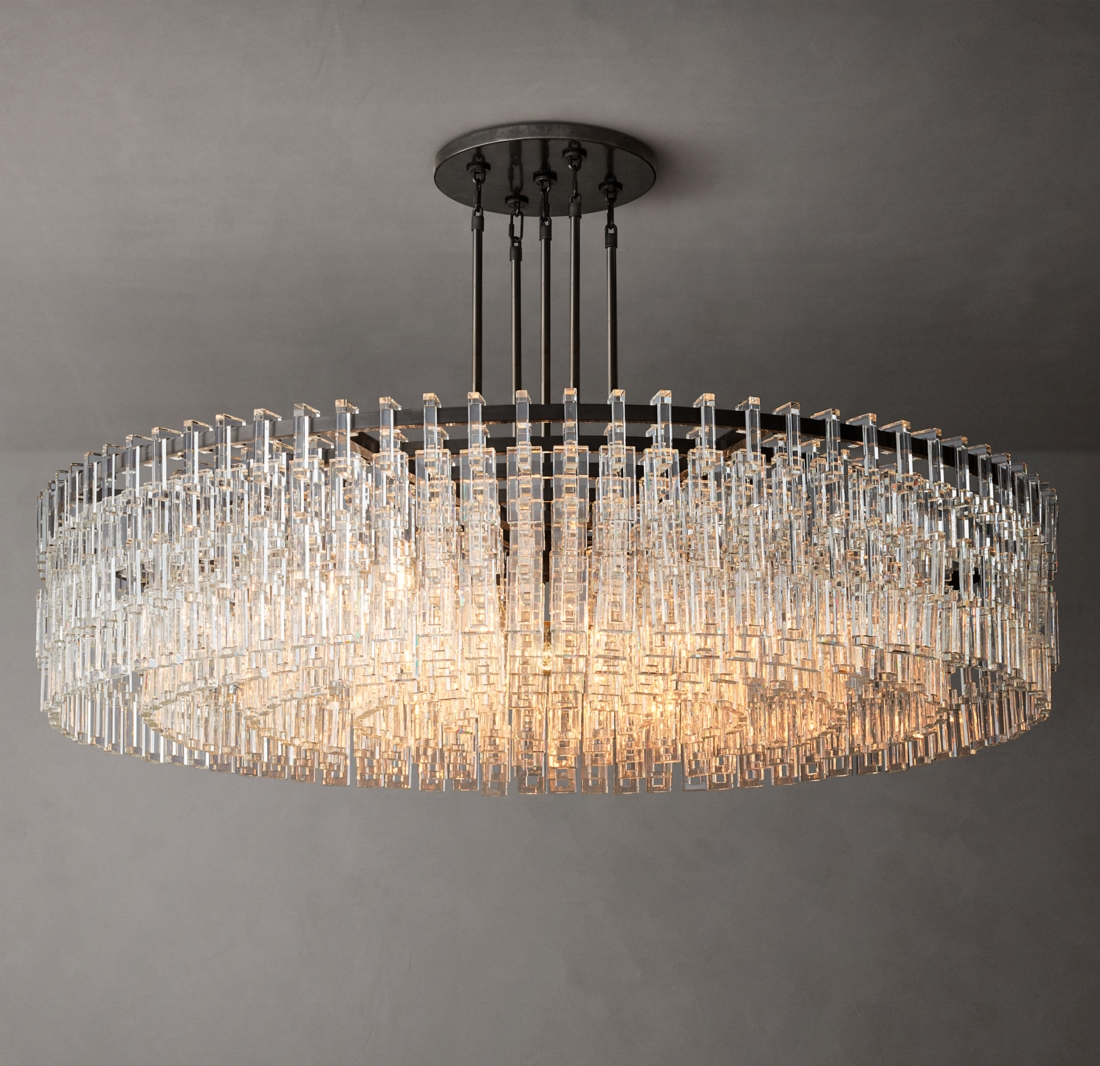 Luxury round crystal chandelier lamp popular Chandelir crystal lamp american chandelier lighting for wholesale hotel decoration