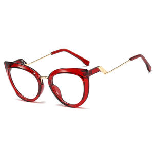 SHINELOT Fashion Women Eyewear Cat Glasses Frames Plastic Metal Anti Blue Light Optical Glasses Buy Wholesale Direct From China