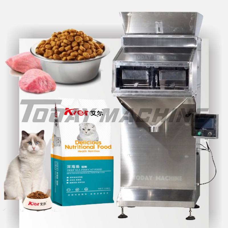 Green peas automatic check weigher granules 2 head linear granule packing machine