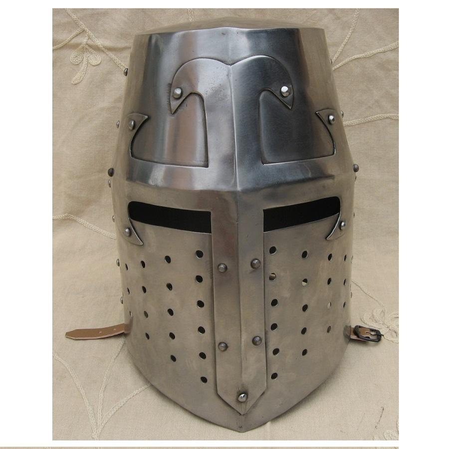 Knights Armor Helmet Perfect Crusader Helmet Fully Wearable Metal Helmet Customization Available