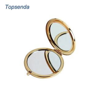 Push button silver / rose gold / gold color compact mirror sublimation pocket mirror