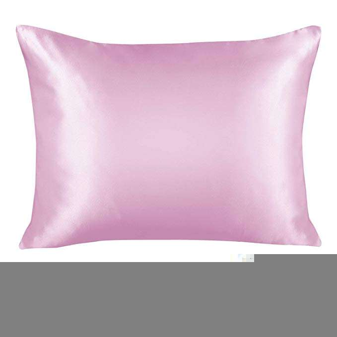 High quality silk feel Luxury Satin Pillowcase for Hair Standard home Satin Pillowcase with Zipper