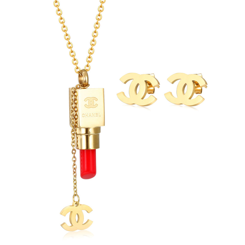 Dubai gold plated Jewelry Set wholesale stainless steel jewelry set