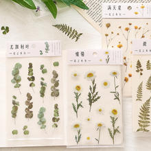 Flower plant design DIY waterproof PET decor stickers for diary/planner