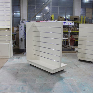 MDF Panels Supermarket grocery Cloths Shops display for women one side Slatwall Display Shelf