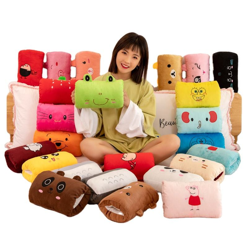 Cute Cartoon Plush Toys Hand Warmer Cartoon Animals Soft Hand Hold Warm Plush Cotton Toy Cushion Pillow Birthday Gift