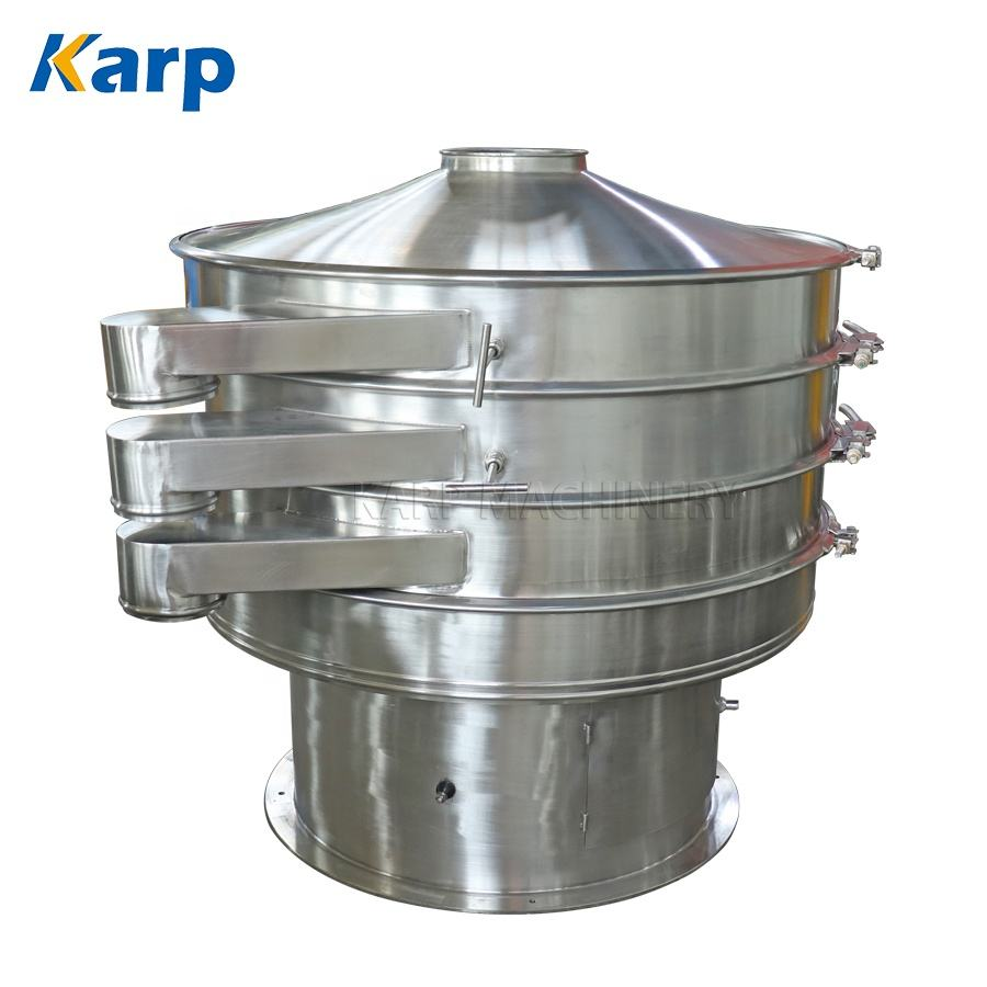 Stainless Steel 304 Tea Powder Vibratory Sieve Food Grade Coffee Sifting Machine Separating