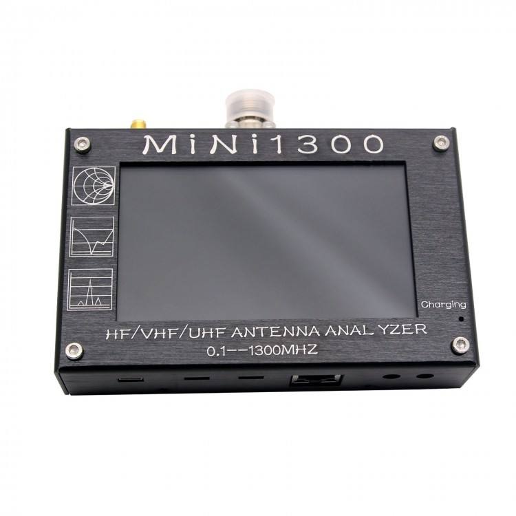 0.1-1300MHz Mini1300 HF/VHF/UHF Antenna Analyzer with 4.3