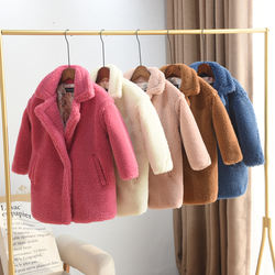 2019 blank winter korea style baby girls kid coat long