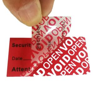 Custom Security Labels Tamper Proof Security Seal Tamper Evident Label VOID OPEN Stickers