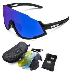 VICTGOAL Polarized Sports sunglasses UV400 Cycling glasses with interchangeable lenses