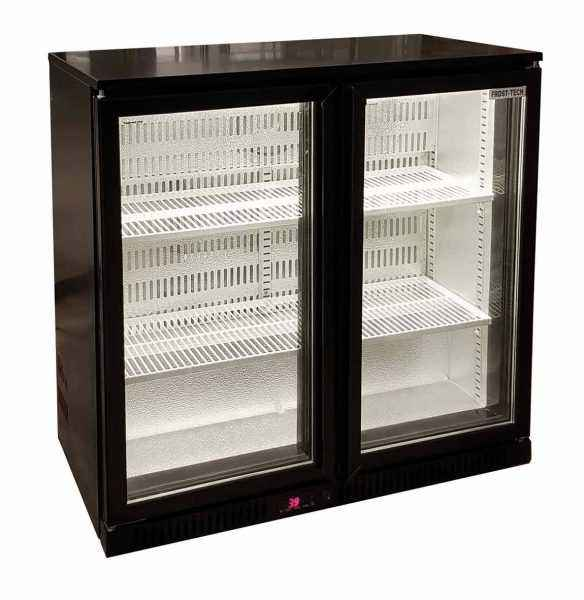 Auto Defrost Commercial Refrigerator with Black Glass Door