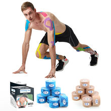 Kinesiology big roll  stretchable sticky tape kinesiology tape cotton rayon kinesiology taping