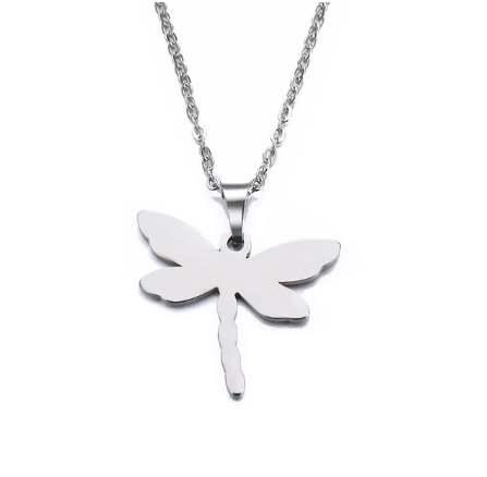 Stainless Steel Necklace For Women Man Lover der Dragonfly Gold And Silver Color Pendant Necklace Engagement Jewelry