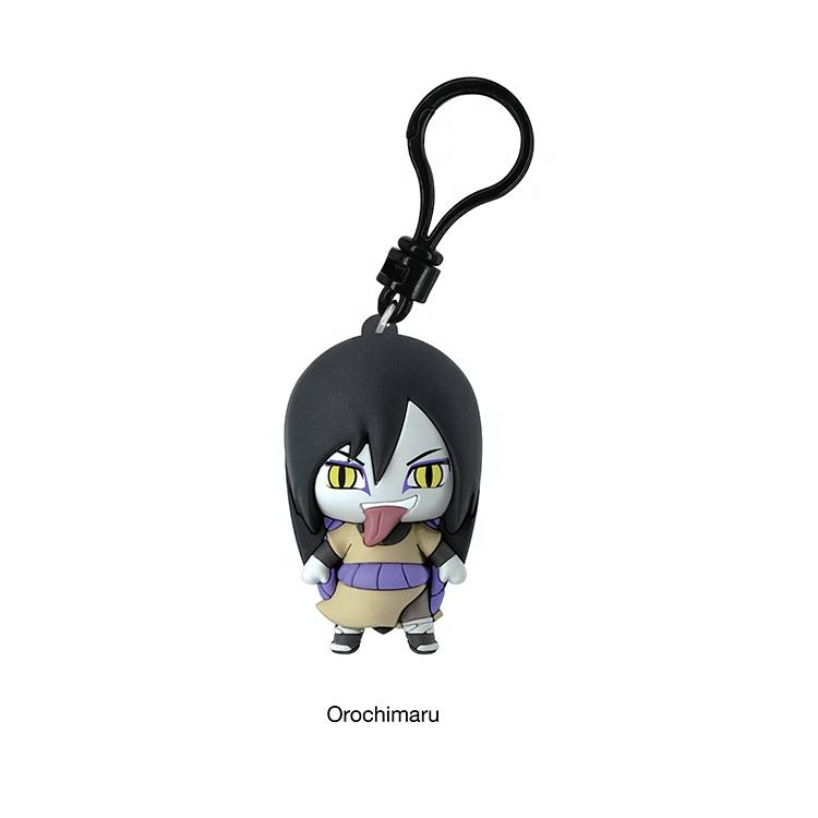 OUTSTANDING PLASTIC ANIMATION TOYS OFFICE FURNITURE 3D CARTOON CHARACTER NARUTO S2 BAG CLIP KEYCHAIN WITHOUT ROYALTY COST