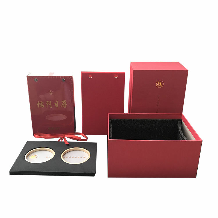 TOSUN Customized Lid and Base Box Gift Packaging for Office Home Table Calendar Paper Boxes