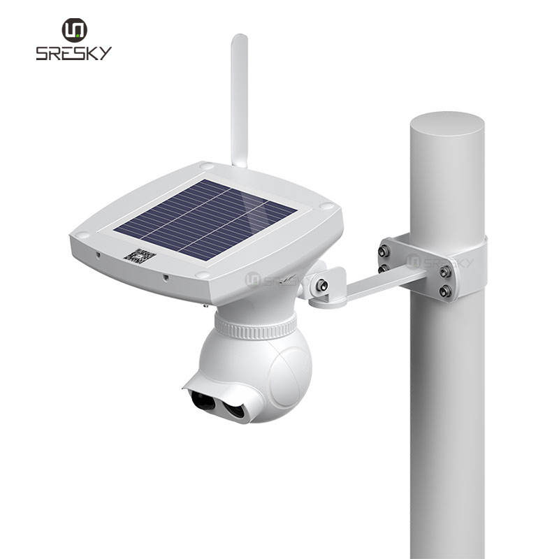 Safe and reliable outdoor solar 4g sim card rohs ip camera with PIR motion sensor