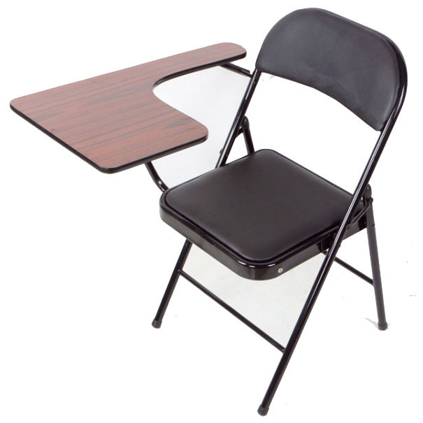 Cheap students wooden metal folding chair with writing pad wholesale