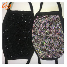 Wholesale Bling AB crystal rhinestone sparkle  protective FaceMask-S