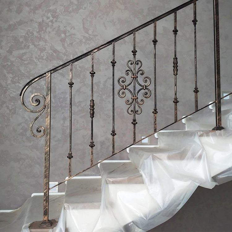High End Prefab wrought iron railings for interior stairs