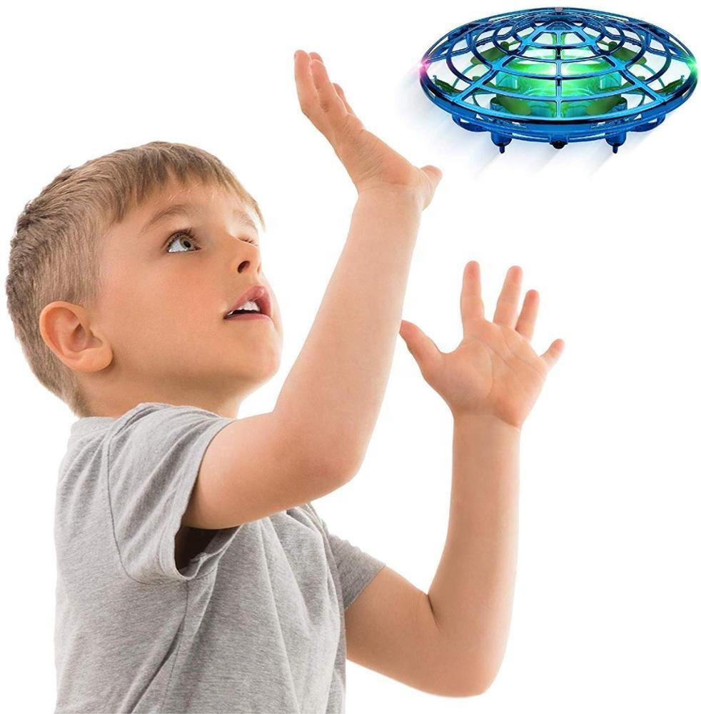 Mini Drone UFO Scoot Hand Operated RC Helicopter Quadrocopter Dron Infrared Induction Aircraft Flying Ball Toys For Kids Adults