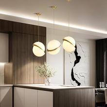 Kitchen Island Home Arts Decoration Lighting Gold Suspension Glass Led Pendant Lamp