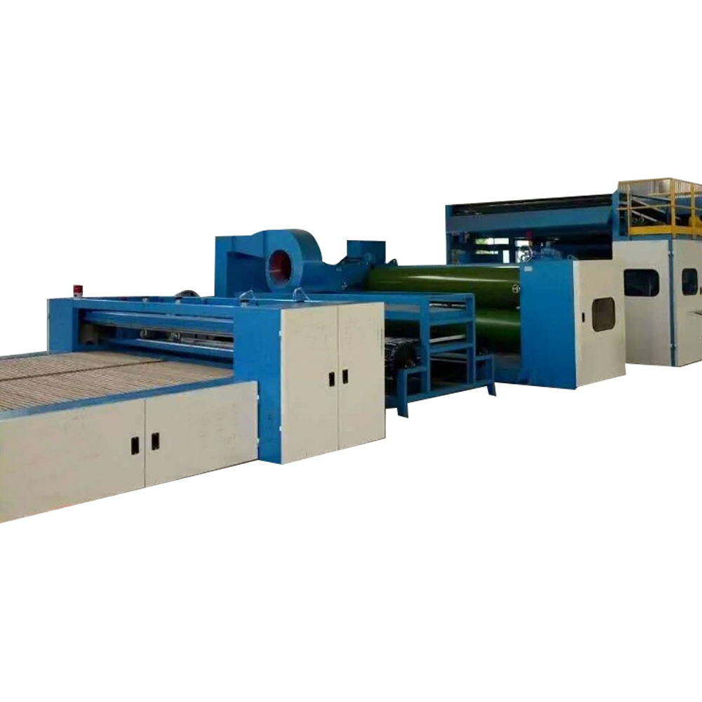 Nonwoven polyester fiber quilt wadding production line cotton/wool/fiber carding making machine