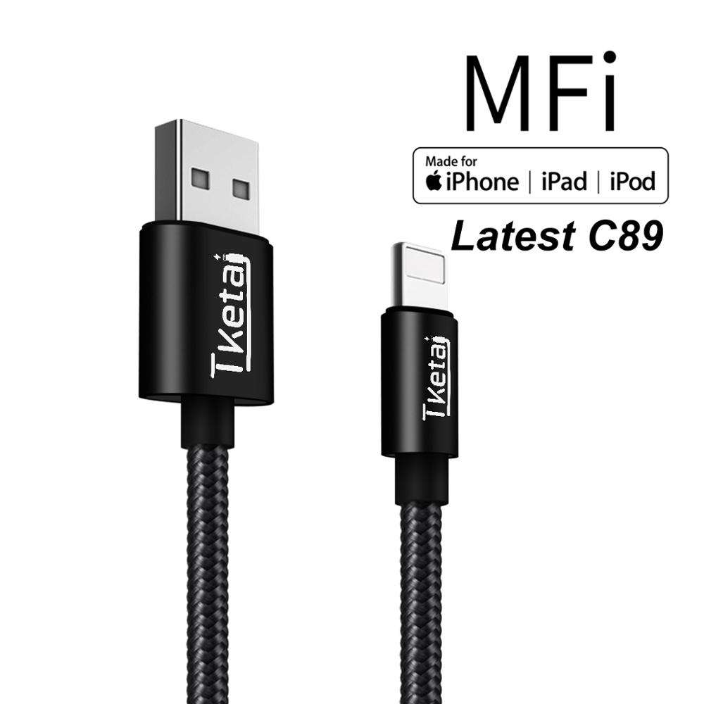 TKETAI para Iphone Cable de cargador Certificado de IMF Cable USB Original Certificado Compatible para iPhone X/8/7/ 6 6 s/6/6 plus/5S/5