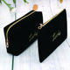 Wholesale Personalized Fashion Korean Version of Deerskin Velvet Small Delicate Simple Tidy Life Travel Makeup Bag