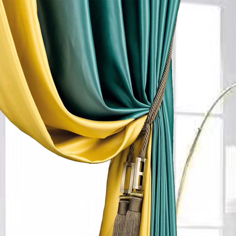Full Light Shading High precision Satin shiny blackout hotel curtains